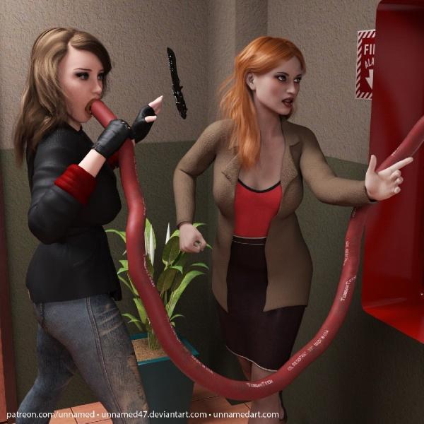 Hitwoman Fire Hose Inflation 10