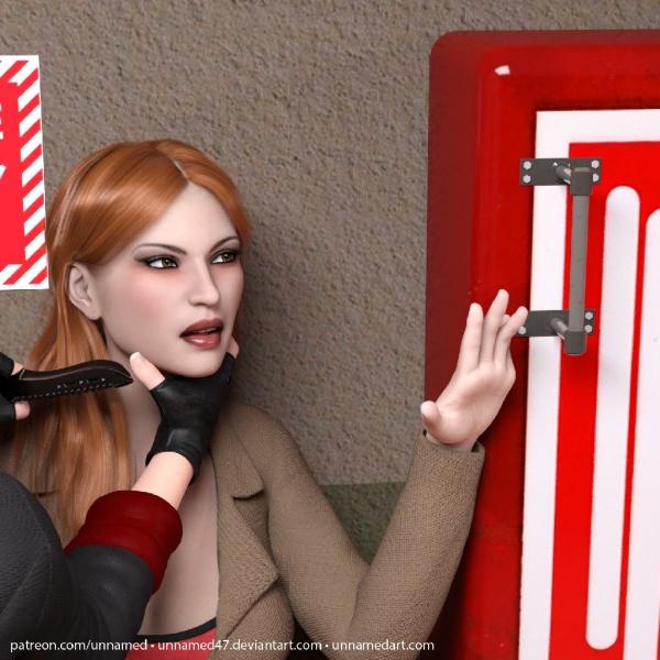 Hitwoman Fire Hose Inflation 05