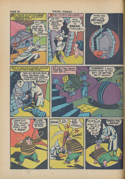 Plastic Man inflates for the very first time in 1943