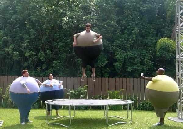 Skol 360 Behind the scenes trampoline