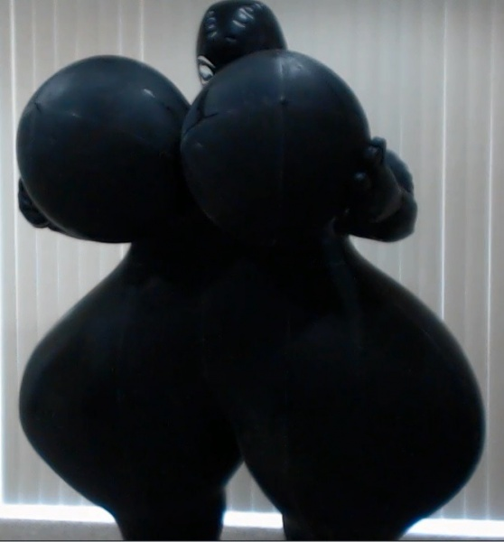 Inflatable hourglass suit